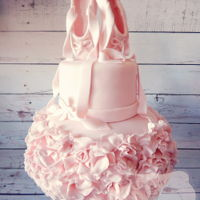 Ballet Ruffled Cake Ballet Themed Cake