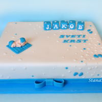 Baptism Cake   Baptism cake for boy