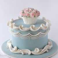 Basket Of Roses Royal icing