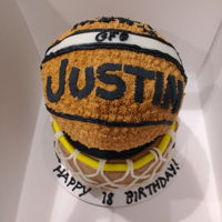 Basketball Cake Mocha cake with with mocha and buttercream icing