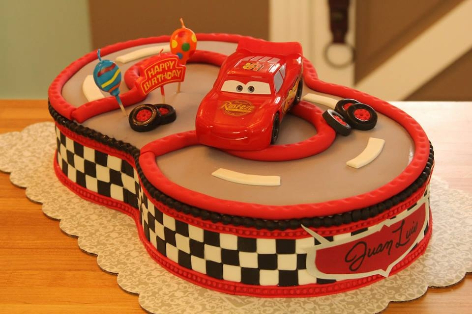 Cars Cake By Andrea at CornerSpace Cakes