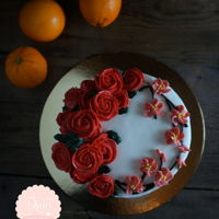 Chinese New Year Butter Cream Cake Chinese New Year Butter Cream Cake