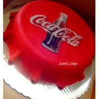 Coca Cola Cap Shaped Vanilla Cake Cap shaped cake