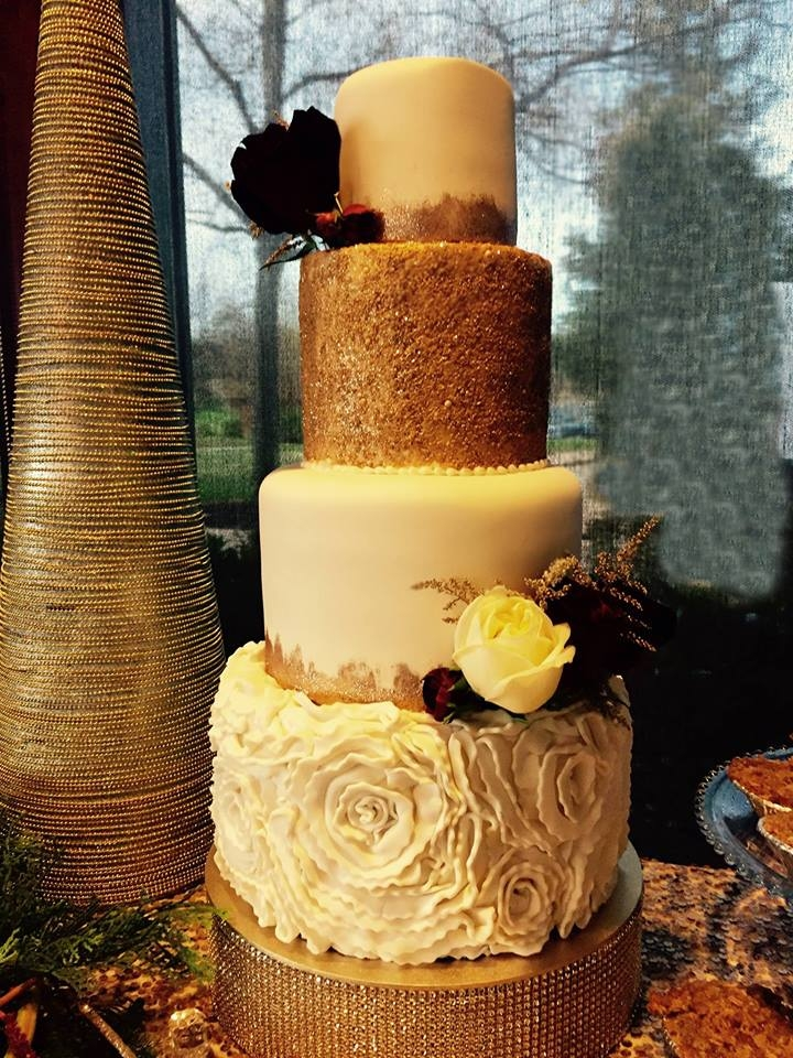 Elegant Holiday Wedding Cake By Andrea at CornerSpace Cakes