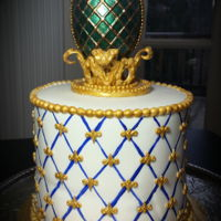 Faberge Cake Chocolate Faberge egg, and Russian Imperial Cobalt design.