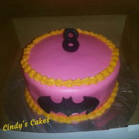 Girly Batman Cake Chocolate cookies and cream cake covered in fondant