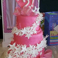 Girly Star Swirl I made this cake for my granddaughter's 2nd Birthday, after the star of the American Girl Logo.