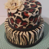 Hand Painted Animal Print Cake  Animal prints are a favorite of my Grandson's precious Girlfriend so I decided to make her a cake to reflect that. I saw a similar...