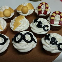 Harry Potter   We made harry potter cupcake... chocolate and white