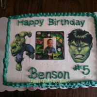 Hulk Eat Cake Hulk was the theme for the