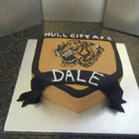 Hull City Football Cake Hull City football cake. No printers used. All freehand. This one took a long time!
