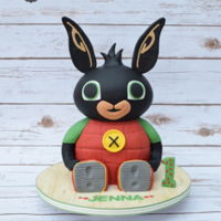 It's A Bing Thing   3D Bing Bunny cake. Bing is a cartoon for young children showing on CBeebies in the UK