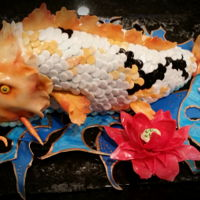Koi Cake Koi paintings inspired birthday cake
