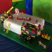 Lego Construction Cake Lego construction cake for my son's b-day party.
