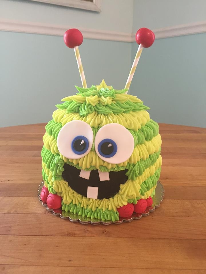 Little Monster Cake By Andrea at CornerSpace Cakes