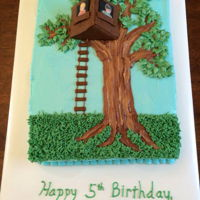 Magic Tree House Cake for my son's b-day, based on his favorite book series (Magic Tree House).