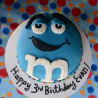 M&m Cake And of course there were M&Ms inside! They dont keep very well, color bleeds with frosting..but my kid enjoyed it anyway.