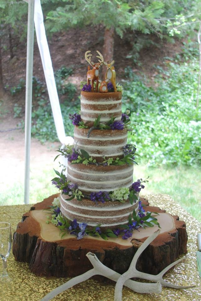 Naked Wedding Cake By Andrea at CornerSpace Cakes