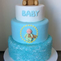 New Baby Boy Cake A cake made for a new baby boy the couple wanted to add their daughter in some way to the cake as she is know to the family as star I added...