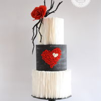 Passion Hi Everyone, Quilling is something that I love very much and since Valentines day is around the corner I made this cake using that...