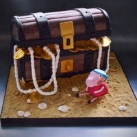 Peppa Pig Cake Peppa pig pirate treasure chest birthday cake