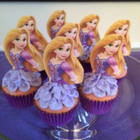 Princess Rapuzel Cupcakes Cupcakes for my daughter's b-day.
