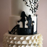 Proposal Of Marriage On Wedding Cake!! three tier cake ispired by the wedding invitation