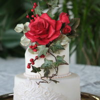 Red Rose Wedding Cake I love red roses..I hope you like it! :-)