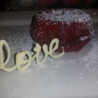 Red Velvet Molten Cake Mini cake for Valentine's