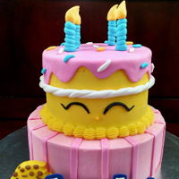 Shopkins Cake I made this cake for my daughter's 9th birthday. She loves Shopkins :)