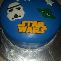 Star Wars Simple fondant Star Wars cake
