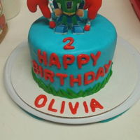 Super Why   We made a super why 2nd birthday cake... vanilla cake