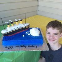 The Titanic My grandson turned 13 and wanted a Titanic cake. He wanted to do the boat. I think he did a fine job for his first attempt. The boat is...