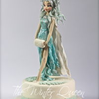"""the Winter Queen "" ""The Winter Queen "" dress in wafer paper. https://www.facebook.com/Torte-di-Ivana-Guddo-317176505051760/?ref=hl"