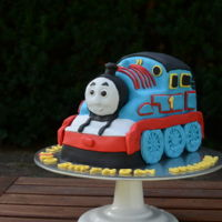 Thomas The Train Best cake I've made so far. Loved this one. So hard.