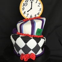 Topsy Turvy Baby Shower Cake alice the wonderland cake