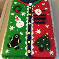 Ugly Sweater Cakes 2 sheet cakes- ugly sweater- with buttercream frosting