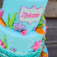 Under The Sea Mermaid Cake   Under the sea inspired cake for a little girl