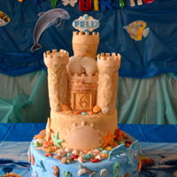 Under The Sea Sand Castle My sons birthday cake.