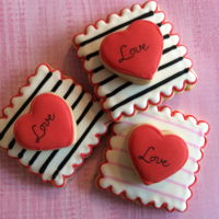 Valentine Cookies   Vanilla cookies decorated with royal icing