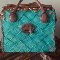 "Vintage Bag ""lea"" Cake I designed this cake, with a vintage feel in the back of my mind. I wanted to play around with some different patterns, and this is what i..."