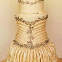 Wedding Dress Cake i made this cake and i was inspired by a wedding dress from Pnina Tornai