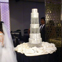 Wedding Structure Wedding Structure in 5 tiers with acrylic pillars