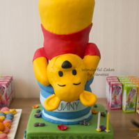 Winnie The Pooh Armature Cake & Sweet Table The sweet table for the 2nd birthday of my son Benjamin.Winnie the Pooh has stood a long time on the table with the head separate from the...