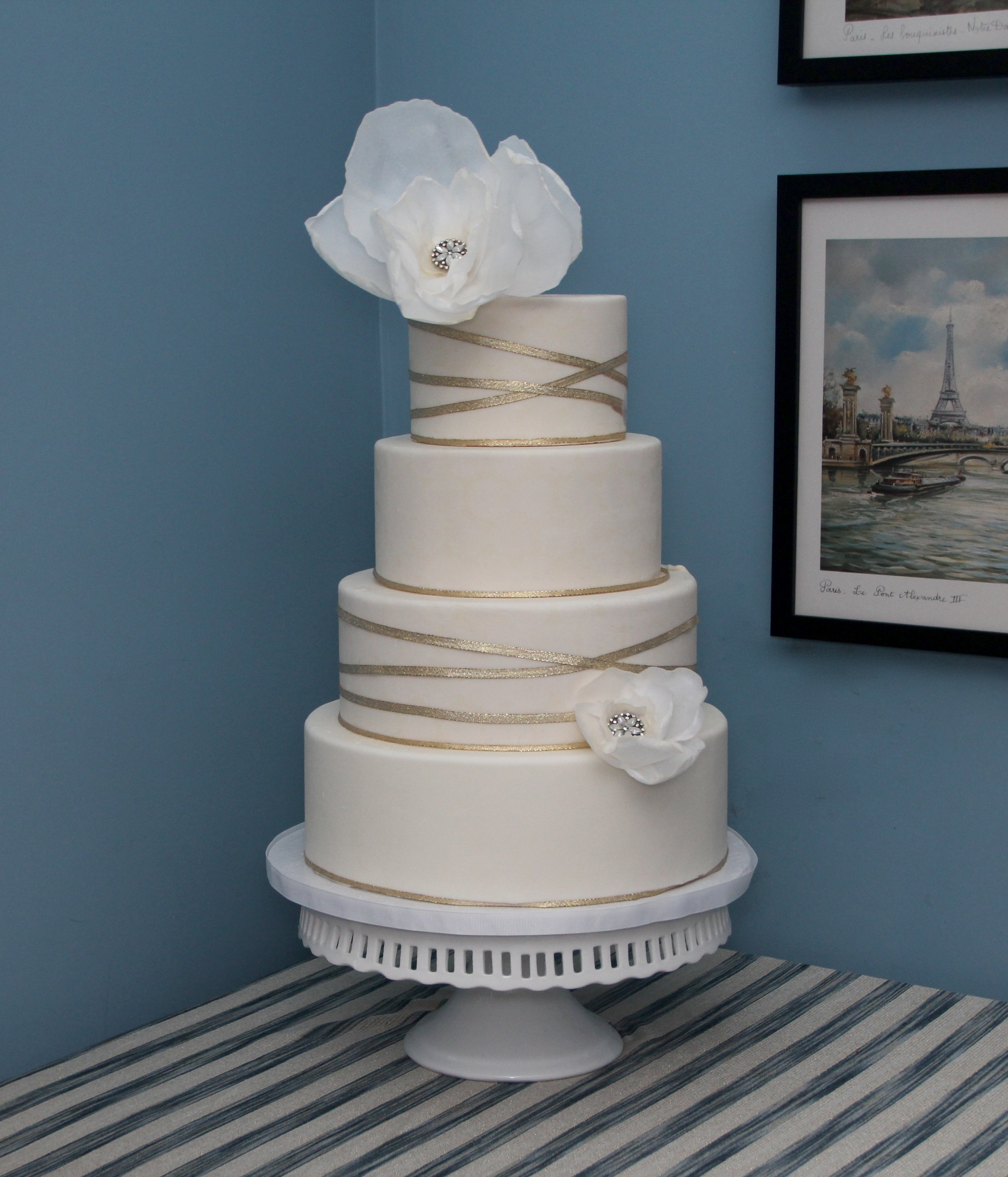 Winter Wedding Fondant & wafer paper flowers