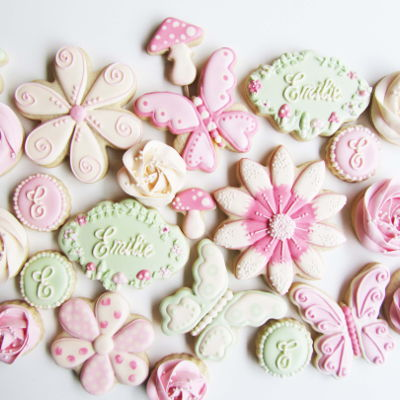 Butterfly Garden Cookies on Cake Central