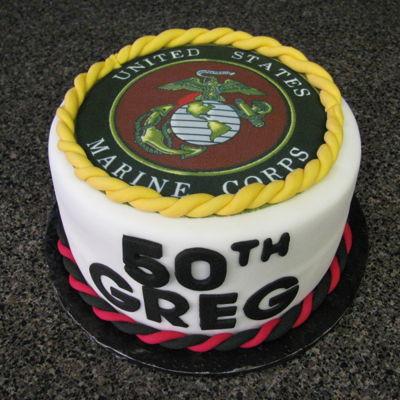 United States Marine Corps 50Th Birthday Cake