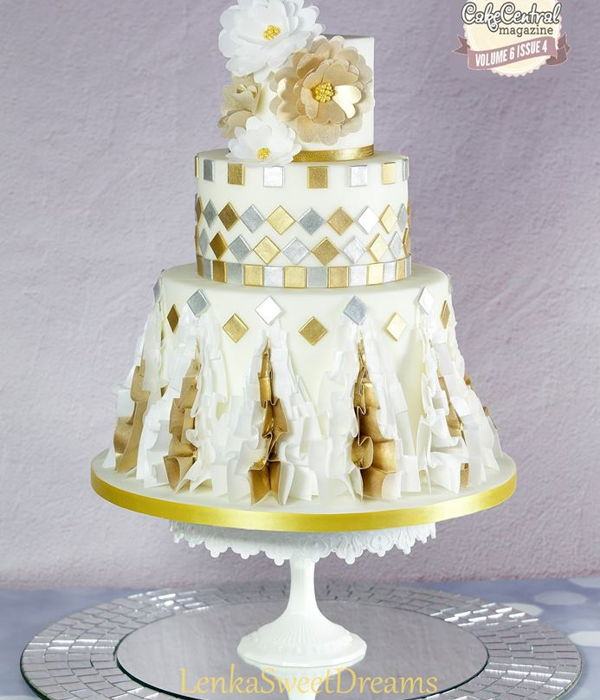 Cake Inspirated By Georges Chakras Haute Couture Collection...