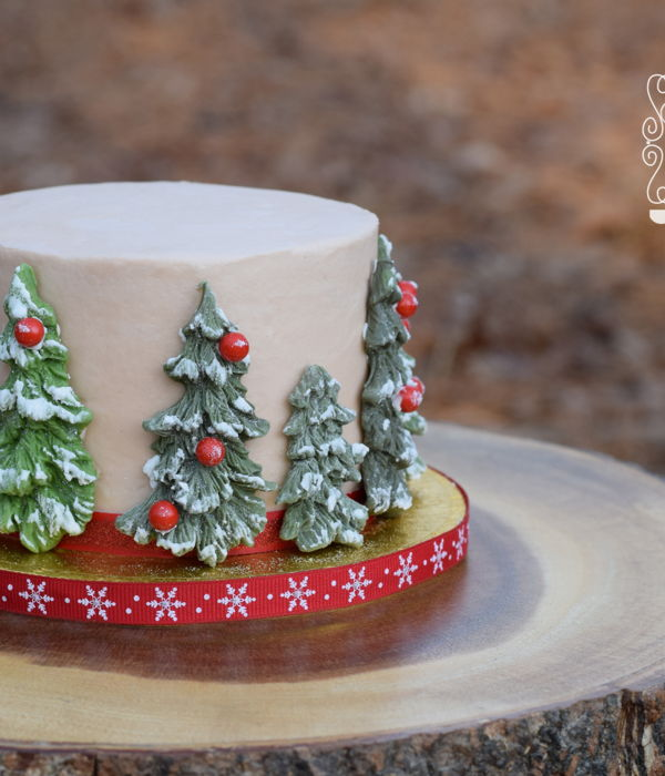 Christmas Tree Smash Cake