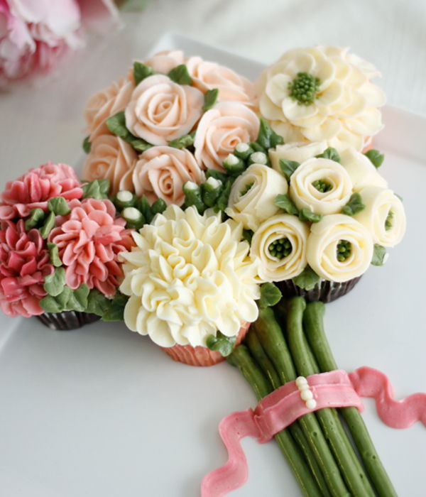 Cupcake Bouquet Of Flowers